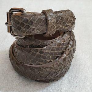 Ann Taylor Brown Animal Print Belt (M) #654